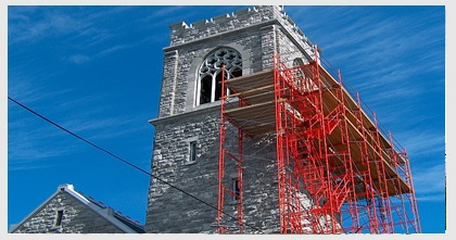 Holy Family Church Bell Tower Repair 9-7-09